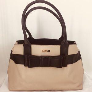 Kate Spade New York Leather Taupe Shoulder Bag